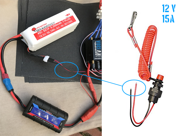 Installing a Kill Switch - Electronics (ESC, remote, batteries ... on kill switch for 2 cycle engine diagram, dynamite diagram, 2 position selector switch diagram, go kart engine diagram, battery kill switch diagram, engine stop switch, car kill switch diagram, engine kill switch for trucks, go kart kill switch diagram, engine start switch, engine test stand wiring-diagram, mercury outboard kill switch diagram, boat starter switch diagram,